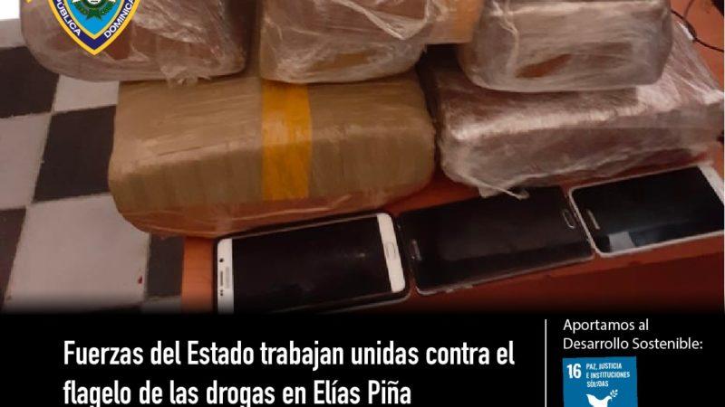 Fuerzas del Estado trabajan unidas contra el flagelo de las drogas en Elías Piña