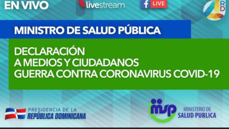(En Vivo) Boletín 6 Ministro de Salud Publica sobre Coronavirus
