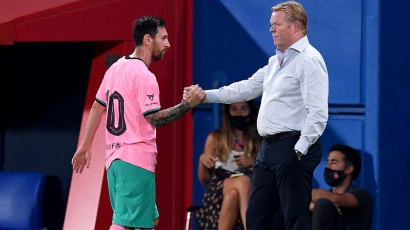 """Entrenador del Barcelona no tiene """"ninguna queja"""" sobre el rendimiento de Leo Messi"""