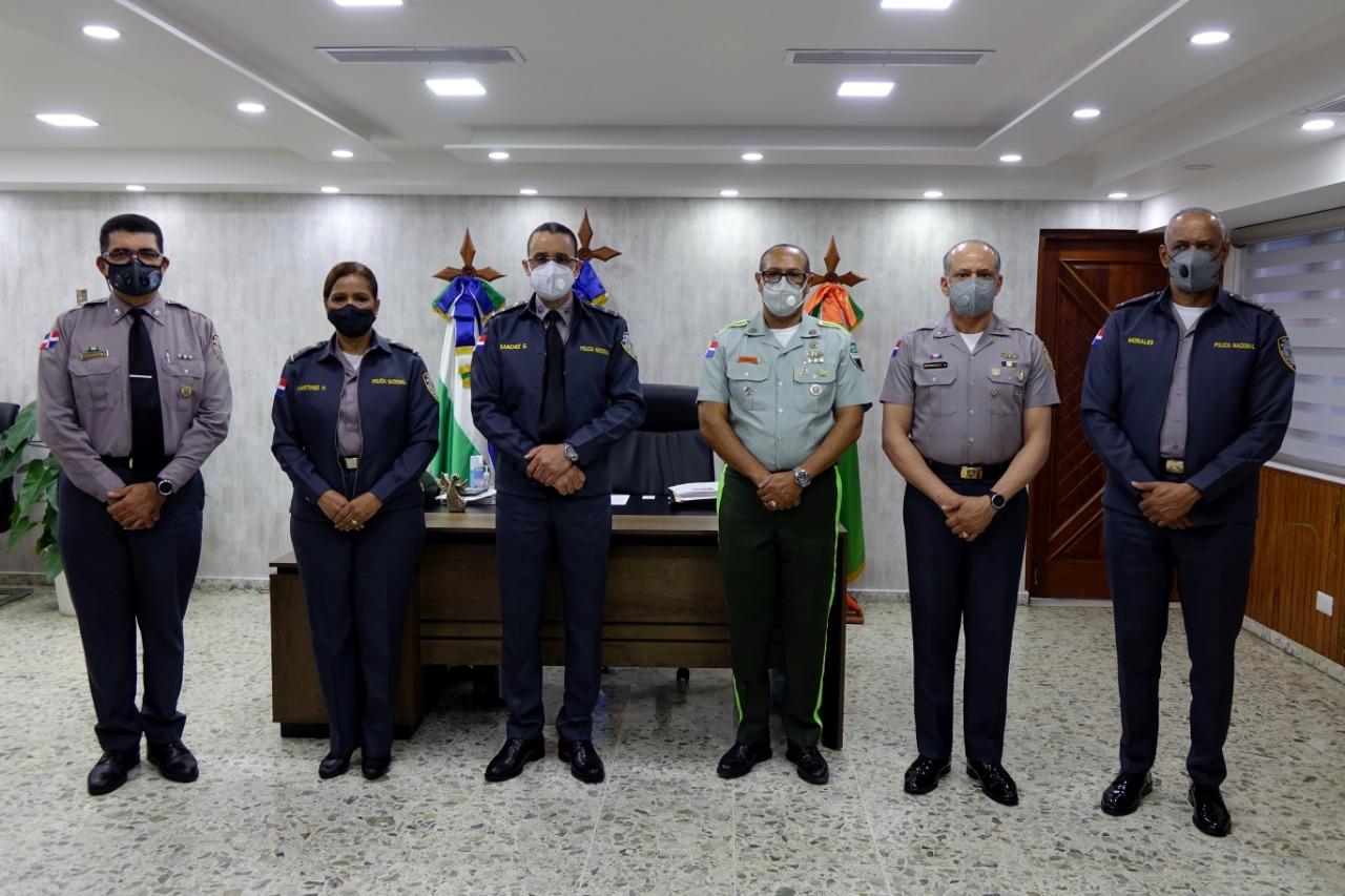 Plana mayor de la Policía Nacional y de la DIGESETT realizan encuentro