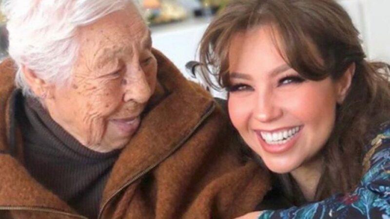 Thalía denuncia las condiciones deplorables en las que se encuentra su abuela de 103 años