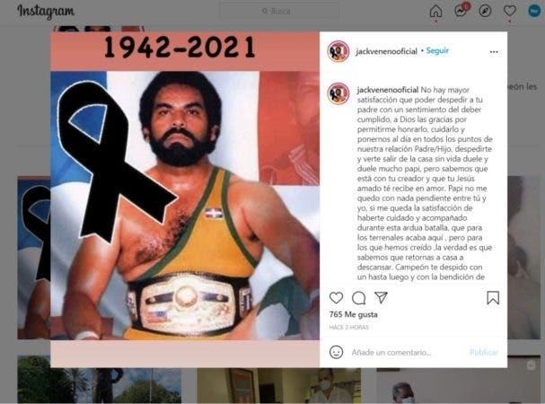 Muere Jack Veneno tras perder la batalla contra el cáncer
