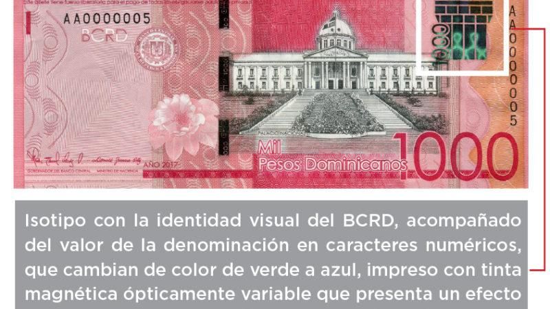 El Banco Central emite el billete de RD$1,000 serie 2017 con el isotipo de la identidad visual institucional