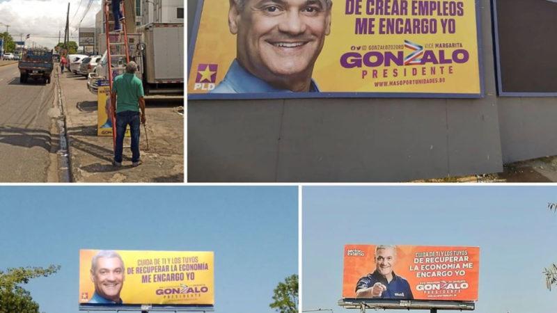 Gonzalo Castillo colabora quitando toda su propaganda visual en la calle de su campaña