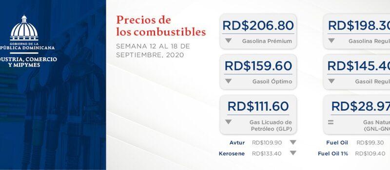 Bajan los precios de todos los combustibles para la semana 12 al 18 septiembre del 2020