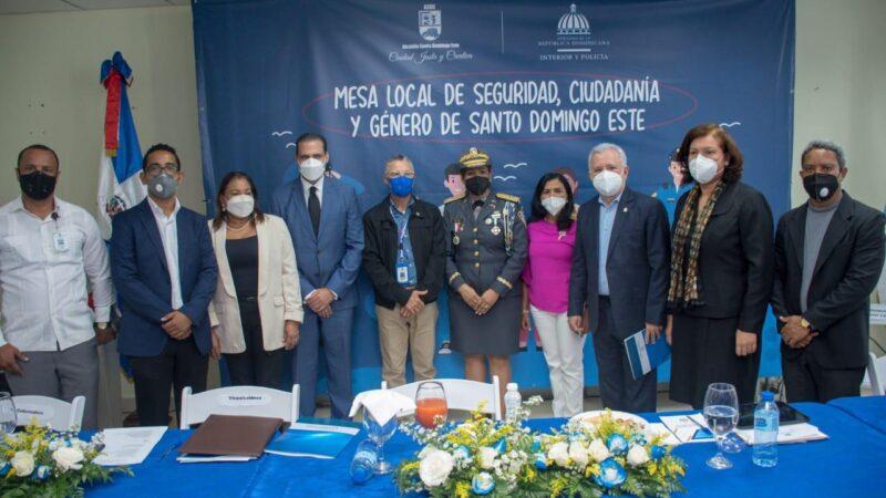 Ministerio de Interior y Policía y Alcaldía activan Mesa de Seguridad, Ciudadana y Género en Santo Domingo Este