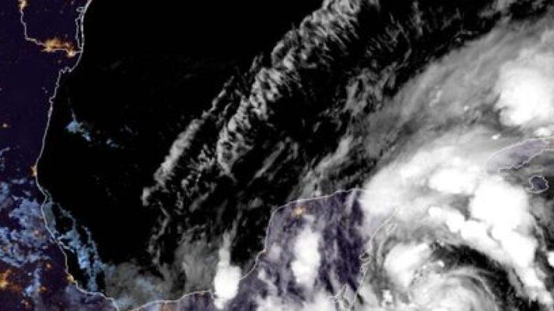 Tormenta tropical Gamma se forma cerca de la isla de Cozumel en el Caribe