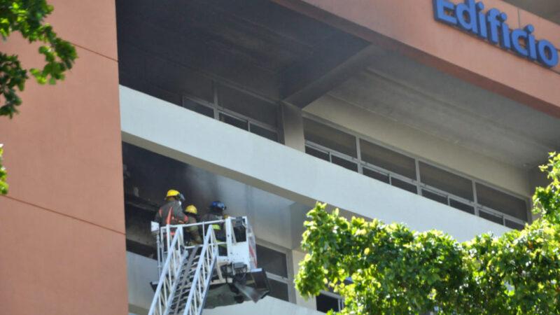 UASD explica sus próximos pasos tras incendio en edificio administrativo