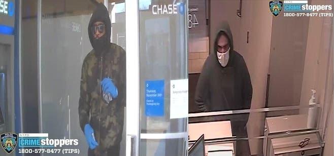 Atracan dos bancos, el mismo día y con pocas horas de diferencia