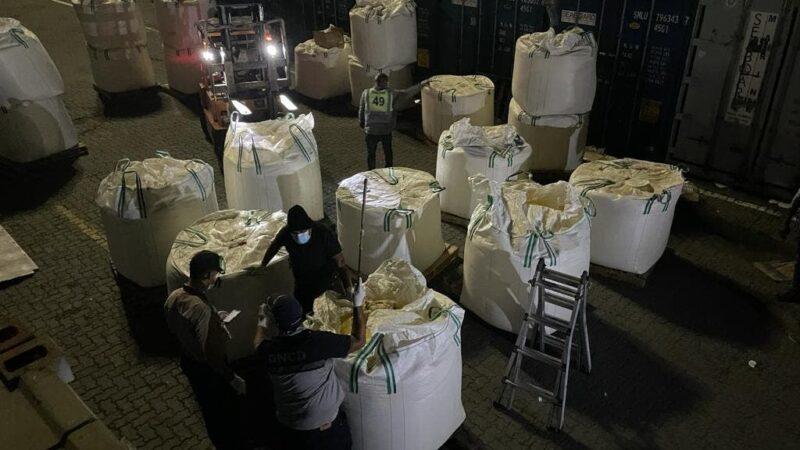 Ocupan 60 paquetes de cocaína escondidos en sacos de azufre, llegaron de Colombia