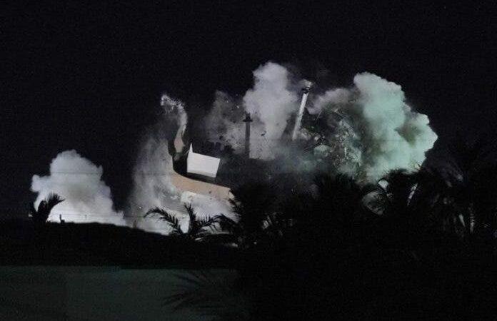 Miami: Detonan explosivos para demoler restos de edificio
