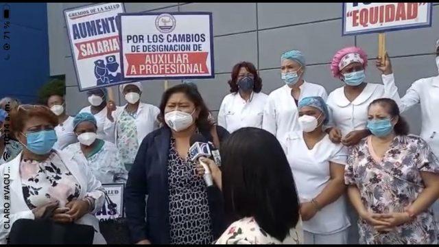 Enfermeras paralizan servicios; piden al presidente Abinader sentarse a escuchar las demandas del sector
