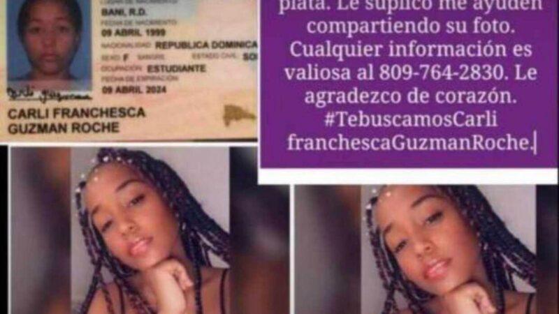 Una joven de 22 años se encuentra desaparecida