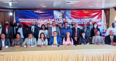 El Movimiento social por la trasparencia (MSPT) anuncian un absoluto respaldo a todos los procesos judiciales que viene llevando a cabo el ministerio público y con la voluntad propia desde el despacho del señor presidente Luis Abinader